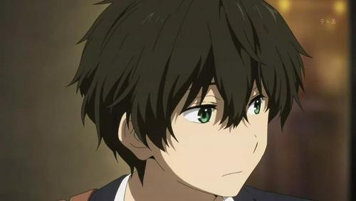 The gallery for --> Brown Hair Green Eyes Boy Anime
