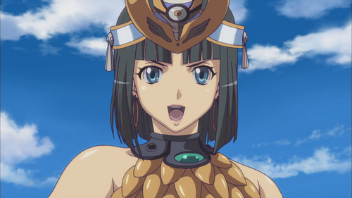 Menace from Queen's Blade is hot. Unfortunately, I wasn't able to find any fotos that showed anything below the shoulders that could be considered in good taste.