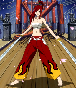 Ты could say she's actually wearing RED !! Erza from Fairy Tail