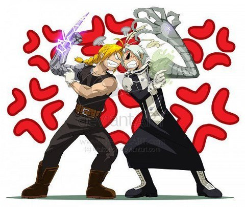 Hm..... I'm not sure...i really like Nabari no ou, but if i had to choos one.... D.gray-man :3 but....i really like Fullmetal Alchemist too~ So hard to choose!