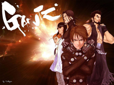 GANTZ. Besides the almost constant nude scenes and sex references, it's pretty bloody and gorey.