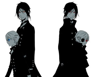 Ciel and Sebastian.