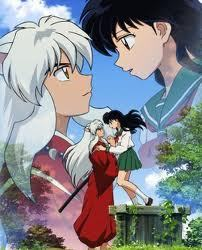InuYasha he protects kagome and he falls in Любовь with her
