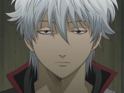 Silver hair samurai - Sakata Gintoki desu! OMG!!! He's so handsome!!! AH!!!! (sachan's monkey scream). hehe...