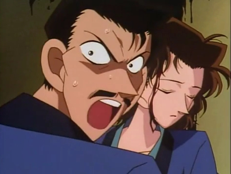 Meitantei Conan's eng dub Case Closed on Adult Swim was my first anime ever,and here's the first scene I remember seeing,the scene was unforgettable even though I watched some then turned it off because it scared me and yes I was young at the time