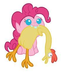 baby pinkie pie chewing on a rubber chicken awww >333333333