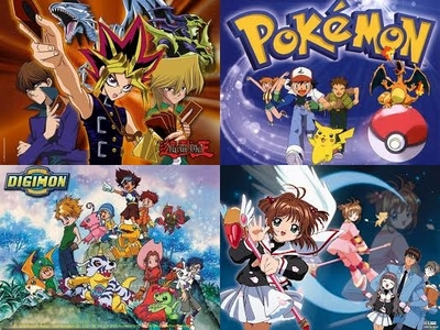 The first anime I watched was either Yu-Gi-Oh!, Pokemon, Digimon atau Cardcaptors.
