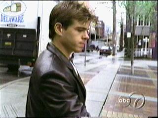 Matthew wearing a leather jacket. :)