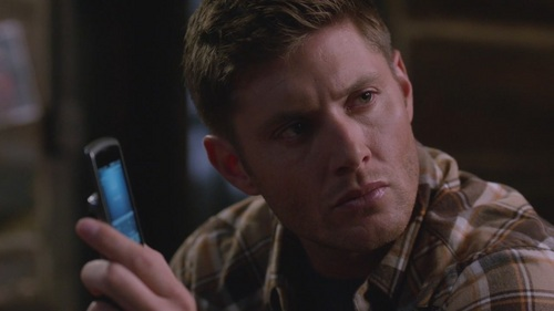 Jensen Ackles as character Dean Winchester on his tv mostra Supernatural ;)