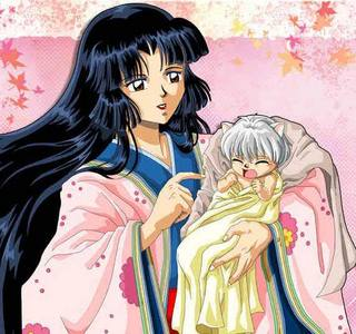 Izayoi and baby InuYasha :3