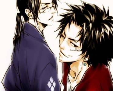 Mugen and Jin from Samurai Champloo. =D
