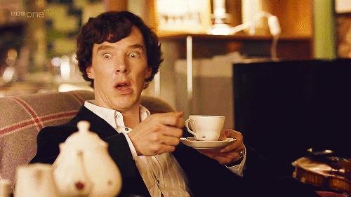 "LOLZ! Benny in ""Sherlock"" on bbc one"