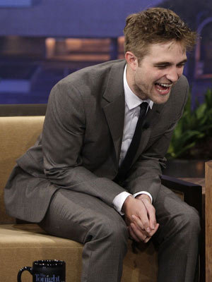 My handsome Robert(from an appearance on Tonight show)laughing.I Cinta his laugh.I Cinta everything about him.