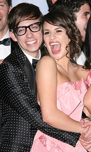 Kevin Mchale and Lea Michele.