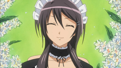 Misaki from Maid-sama works at a maid cafe