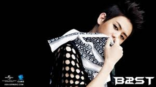"Yang Yoseob, 'cause he's so handsome :""> ♥"