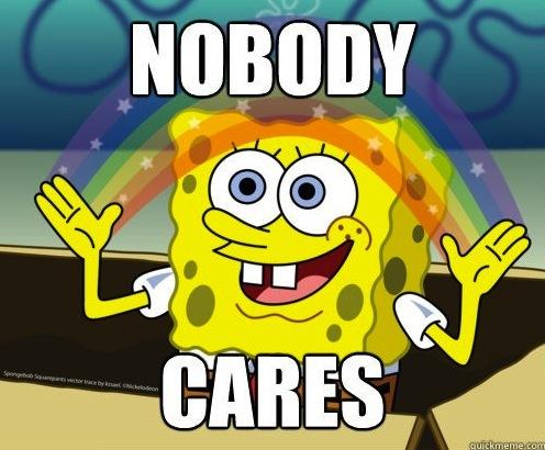 No one cares.