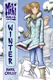 """The cover for the book """"Winter""""in the Miki Falls series 由 Mark Crilley."""