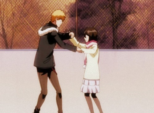 """[b]Ichigo & Rukia from Bleach[/b] In a nutshell, they are pure chemistry. The author himself has stated that she's his 레이 of light, something we can easily make sure regarding how his mood suddenly rises every time they reunite, how he's said that she changed his world and that she made the painful rain stop for him. She's the one who understands him the most, the one who knows exactly what to do in order to make him feel better...I just adore their bond, it's magic and special...something indescribable. But what I found the sweetest is his 망가 poem for her: [i]""""I wonder if I would be able to keep up with the speed of the world without 당신 in it""""[/i]"""