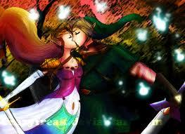 Here's a cute pic of Link and Zelda together :D