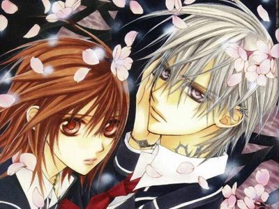 yuuki and zero from vampire knight :)