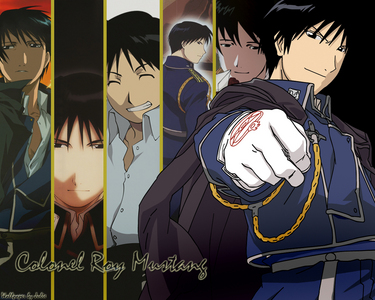 dante(devil may cry) soskue sagura(full metal panic) roy mustang(fullmetal alchemist) yoite(nabari no ou) corporal giroro(sgt frog)