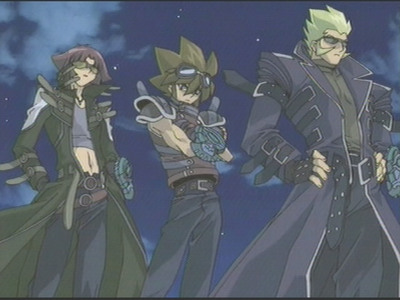 Raphael, Valon and Alister from Yu-Gi-Oh!