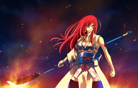 I'm pretty sure it's spelled Erza as it says in the fairy tail wiki too. :)