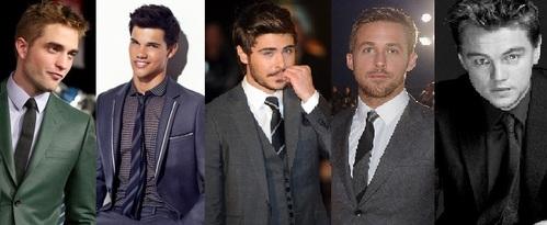 1 Edward Cullen (The Twilight Saga) 2 Jacob (The Twilight Saga) 3 Logan (The Lucky One) 4 Noah (The Notebook) 5 Jack (Titanic)