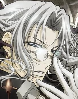 Trinity Blood has ヴァンパイア in it. Not only that but the main character is a crusnik, a vampire who feeds on vampires. His name is Father Able Nightroad.
