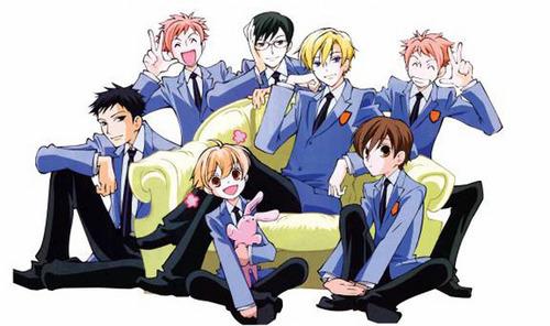 Ouran High School Host Club! Mori, Hikaru, Kyoya, Tamaki, Kaoru , Honey and Haruhi