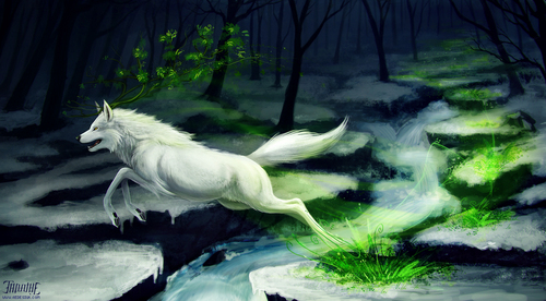 Wolves, because they so happen to be my favourite animal.. ^^