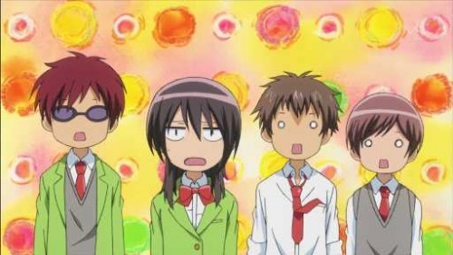 Members of Student Council and Kaichou Misaki Ayuzawa from Kaichou wa Maid sama!