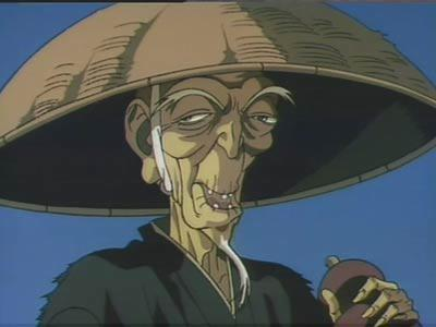 Dakuan from Ninja Scroll is creepy and awesome. You'd be surprised how many monks go around carrying チェリー bombs.