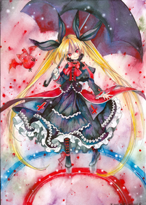 I think I have already answered this, but the answer is still the same, which is <b>Rachel Alucard from the BlazBlue franchise.</b> I mean, hey. Her diseño is pretty much eye candy, and the sarcastic streaks of her personality just really fits her for some reason. Also, in the english version of the game, she speaks with a british accent. I haven't seen that many vampiros who does. /laughs