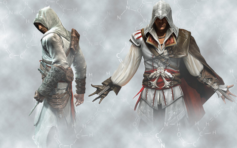 Altair from Assassin's Creed. He's an amazing assassin, cool, a total bad-ass, and is extremely cool.