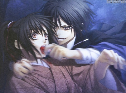 Chizuru Yukimura and Kaoru Nagumo ❤❤ from hakuouki (They have a complicated relationship even though they care for eachother :3)