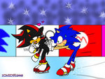 Sonic and Shadow! I love this pic! But I also Love Silver and Tails ^^