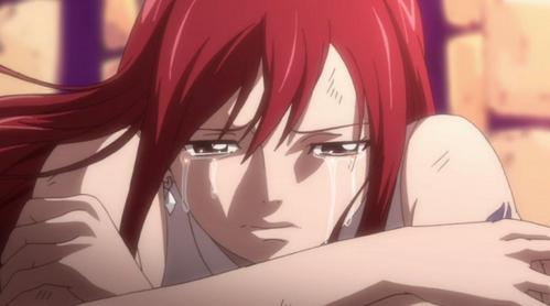 Erza crying... =D