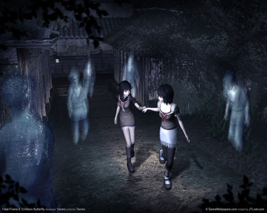 Fatal Frame 2: Crimson Butterfly. It's a survival horror game,by the way. It's fun! :D