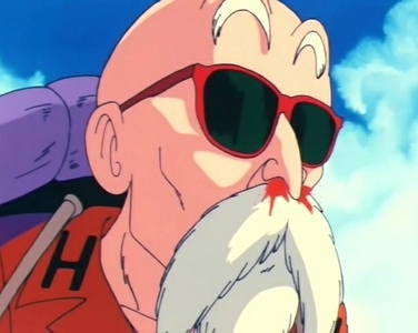 Old عملی حکمت character hmm Roshi-sensei from the Dragon Ball series he's 319 in the original and 331 in Dragon Ball Z.