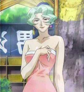 Even among the high ages of the cast of Tenchi Muyo, Ayeka's grandmother Seto, the Devil Princess of Jurai, is old. She even looks it a little. According to the Tenchi Wiki, she's estimated to be 5,000 to 6,000 years old, while Ayeka is 717 years old (with 700 years in suspended animation).