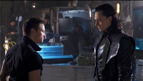 Tom Hiddleston/Loki Jeremy Renner/Hawkeye