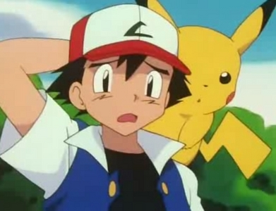 Satoshi-kun (also known as Ash in the english dub) from Pokemon wearing his usual cap!