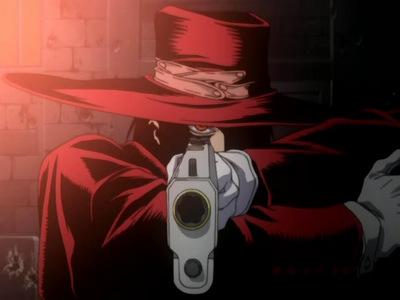 Alucard from Helsing wears a red hat.