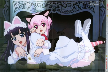 Luna is a vampire girl who likes to wear cat ears. It's been a while since I've seen Moon Phase, so I don't remember who the other girl is.