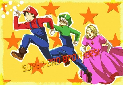 How about a spanish Mario XD (left to right: Spain, Prussia and France from Axis Powers: Hetalia)