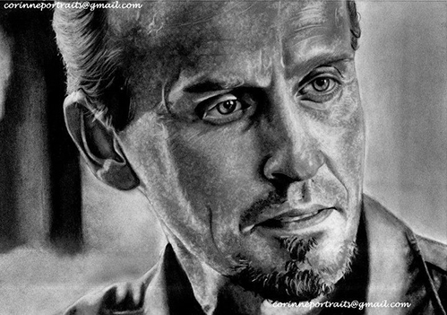 a really well done drawing of Knepper