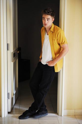 my Rob wearing yellow