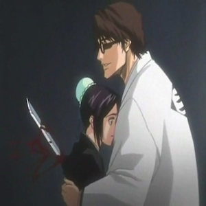 Momo being stabbed 由 Aizen.
